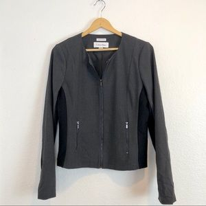 Calvin Klein gray black zipper jacket size 8